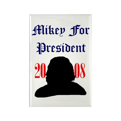 Mikey For President Rectangle Magnet
