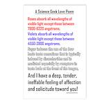 Science Geek Valentine Postcards (Package of 8)