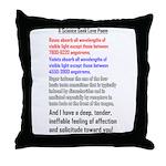 Science Geek Valentine Throw Pillow
