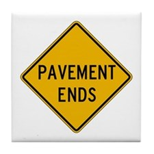 Pavement Ends 2 - USA Tile Coaster