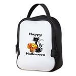 Halloween Black Cat Neoprene Lunch Bag