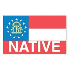 Georgia Native Rectangle Decal