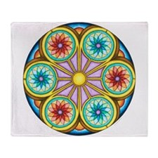 Portal Mandala Throw Blanket