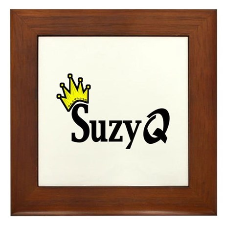 Suzy Q Framed Tile