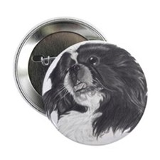 "Funny White pekingese 2.25"" Button (10 pack)"