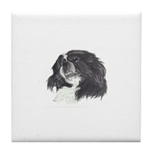 Unique White pekingese Tile Coaster