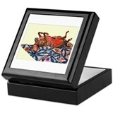 Greyhound Woodcut Keepsake Box