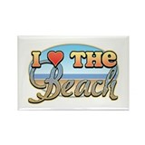 I Love the Beach Rectangle Magnet (100 pack)
