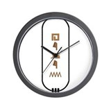 "Helen in Hieroglyphics ""Color Wall Clock"