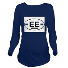 ESTONIA.png Long Sleeve Maternity T-Shirt