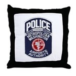Dulles Airport Police Throw Pillow
