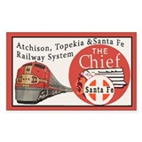 Santa Fe Railroad Travel Decal