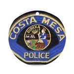 Costa Mesa Police Ornament (Round)
