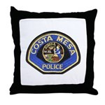 Costa Mesa Police Throw Pillow