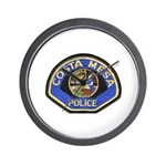 Costa Mesa Police Wall Clock