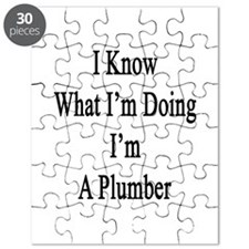 I Know What I'm Doing I'm A Plumber Puzzle