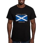 Newton Mearns Scotland Men's Fitted T-Shirt (dark)
