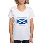 Newton Mearns Scotland Women's V-Neck T-Shirt