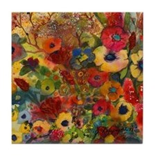 Symphony in Bloom Tile Coaster
