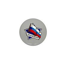 """Russia Star Flag"" Mini Button (10 pack)"