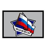"""Russia Star Flag"" Postcards (Package of 8)"