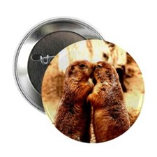 "Love and Kissing Prairie Dog 2.25"" Button (10 pack"