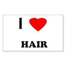 I love hair Rectangle Decal