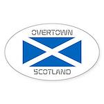 Overtown Scotland Sticker (Oval)