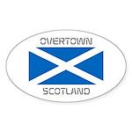 Overtown Scotland Sticker (Oval 50 pk)
