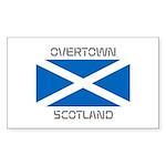 Overtown Scotland Sticker (Rectangle 10 pk)