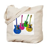 Four Guitars Tote Bag