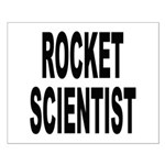 Rocket Scientist Small Poster