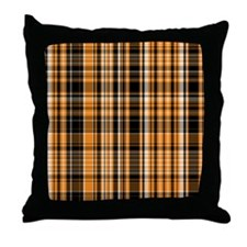 Halloween Plaid Throw Pillow