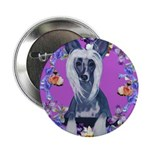 Chinese Crested Button