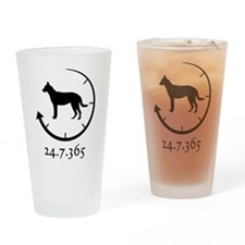 Beauceron Drinking Glass