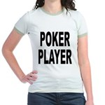 Poker Player (Front) Jr. Ringer T-Shirt