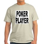 Poker Player (Front) Ash Grey T-Shirt
