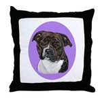 American Staffordshire Throw Pillow