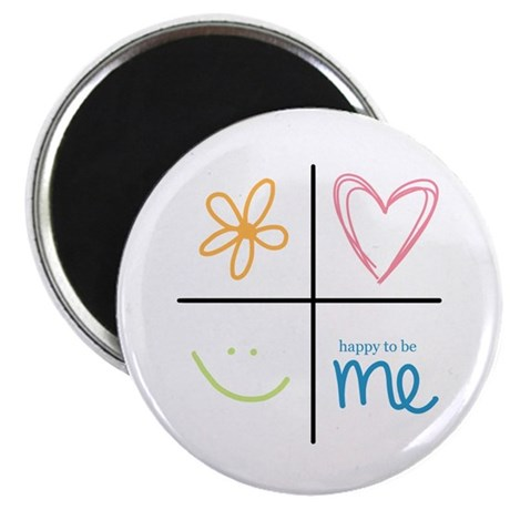 "Happy to be me 2.25"" Magnet (10 pack)"