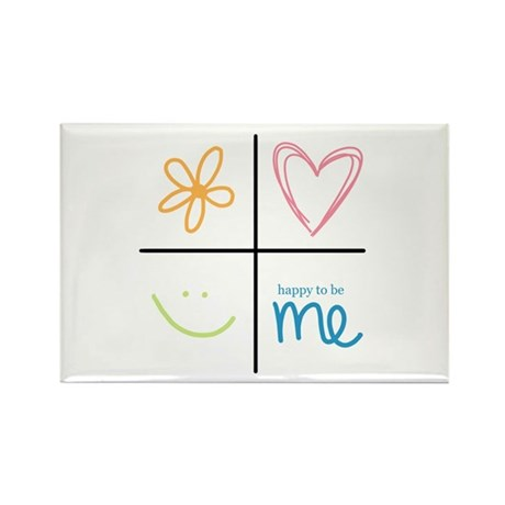 Happy to be me Rectangle Magnet (10 pack)