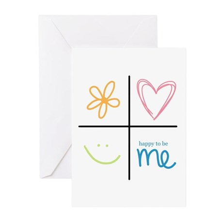 Happy to be me Greeting Cards (Pk of 10)