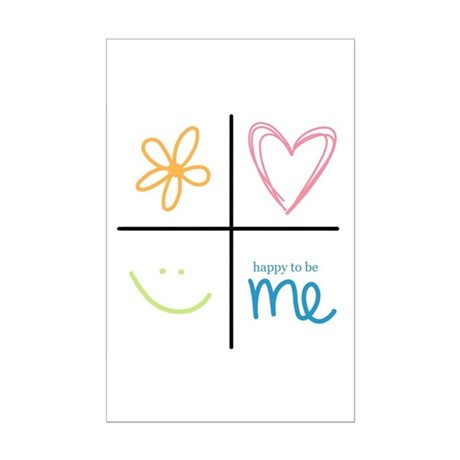 Happy to be me Mini Poster Print