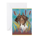 German Shorthair Pointer Greeting Cards (Package o
