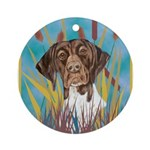 German Shorthair Pointer Ornament (Round)