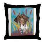 German Shorthair Pointer Throw Pillow