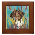 German Shorthair Pointer Framed Tile