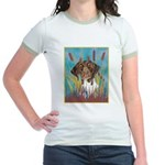 German Shorthair Pointer Jr. Ringer T-Shirt