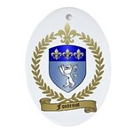 FONTENOT Family Crest Oval Ornament