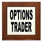 Options Trader Framed Tile
