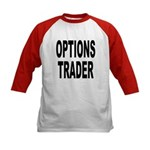Options Trader (Front) Kids Baseball Jersey
